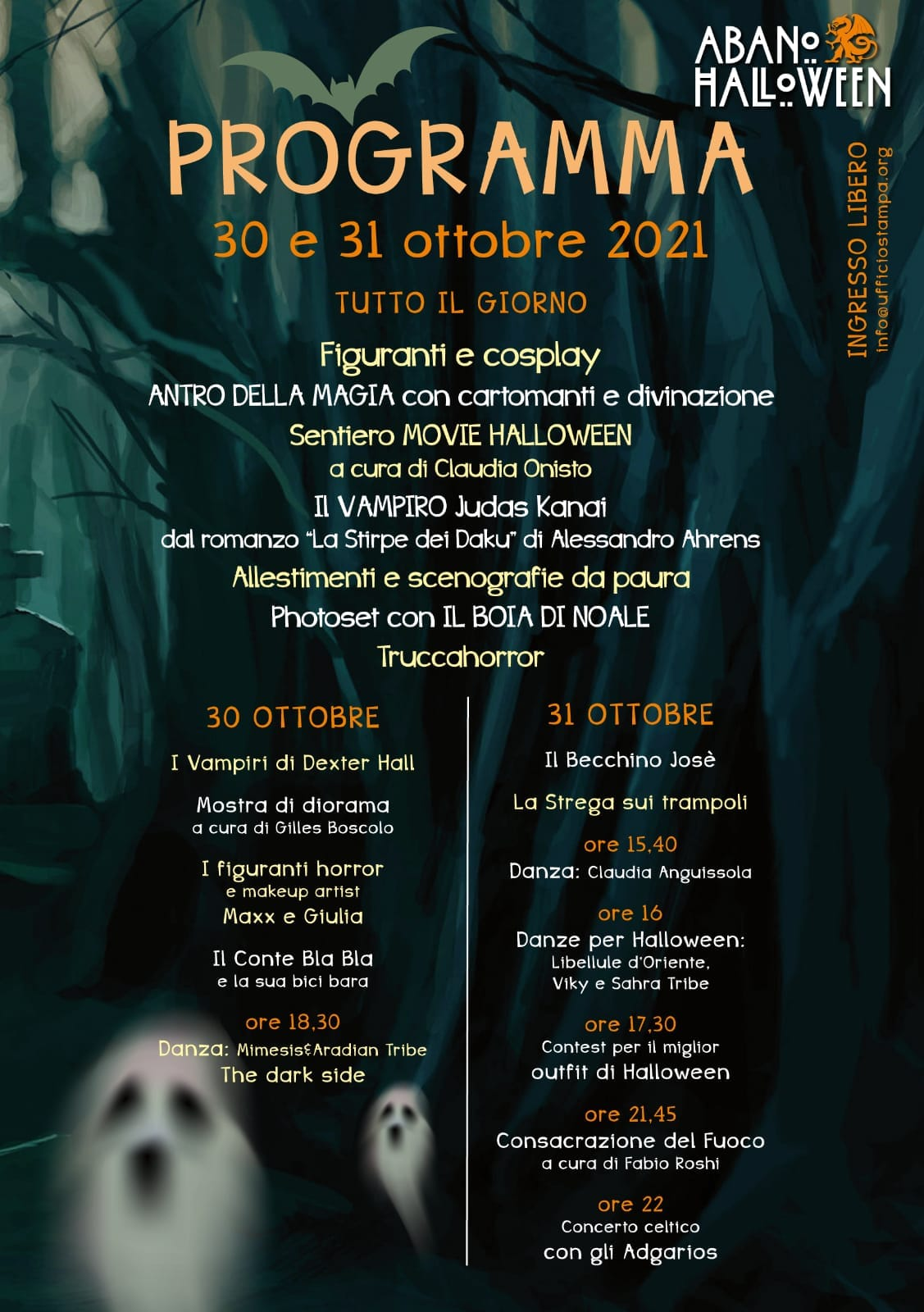 Blog Abano it | Halloween Programma